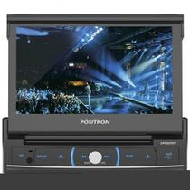 "Som Automotivo SP6320BT DVD Player, Touch Screen 7"" Retrátil, USB, SD Card, Bluetooth, Entrada p/ Câmera de Ré - P - Pósitron"