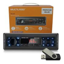 Som automotivo vibe bt multilaser com bluetooth + pendrive 8gb