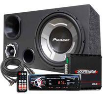 Som Caixa Trio Sub Pioneer Aparelho Bluetooth Soundigital -