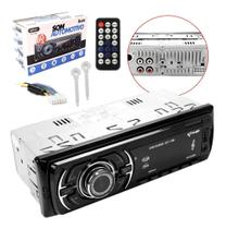 Som Carro Radio Automotivo Bluetooth Mp3 Player Usb Sd Mp3 Aux Controle Remoto Kp-C28bh - Knup