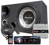Som Completo Caixa Trio Aparelho Bluetooth Taramps Pioneer -