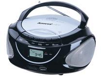 Som Portátil Amvox AM/FM 10W CD Player - AMC 590 USB Entrada para Cartão