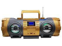 Som Portátil Boombox FM Estéreo, CD, MP3, USB, Auxiliar e Bluetooth Lenoxx -