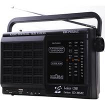 Som Portátil Motobras RMPU32AC, AM/FM, USB/SD, Preto - Bivolt -