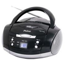 Som Portátil Philco PH61, Rádio FM Estéreo, CD-R/RW, Auxiliar, Bivolt - Preto -