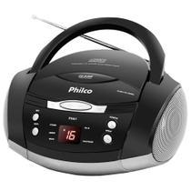 Som Portátil Philco PH61, Rádio FM Estério, CD-R/RW, Auxiliar, Preto - Bivolt -