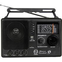 Som Portatil Rádio Motobrás RM-PUSM81AC, 8 Faixas FM OC, USB - Preto - Motobras