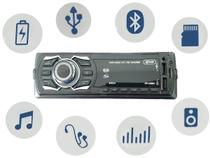 Som Radio Automotivo Bluetooth Potente 240w Controle Volante - Kl store