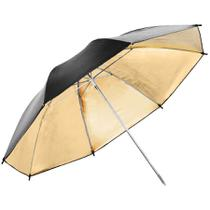 Sombrinha para Estúdio Fotográfico Rebatedora Dourada - 95cm Leadwin -