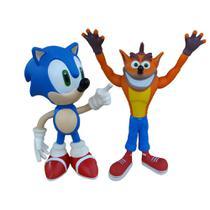 Sonic e Crash Collection Original - 2 Bonecos Grandes - Super Size Figure Collection