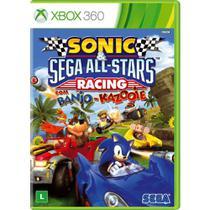 Sonic e SEGA All-Stars Racing com Banjo-Kazooie - XBOX 360 - Microsoft