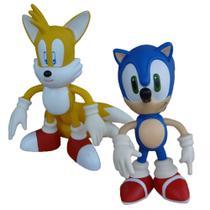 Sonic e Tails Collection Original - 2 Bonecos Grandes - Super Size Figure Collection