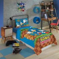 Sonic Jogo De Cama Solteiro 3 Peças Lepper -