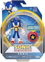 Sonic The Hedgehog Action Figure com Star Spring Oficial Licenciado -