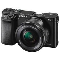 Sony Alfha A6000 Mirrorless Câmera Digital com Lente 16-50mm-24.3MP-Full HD de Vídeo - Nikon