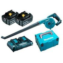 Soprador dub183z-p 18v + 2 baterias 5ah + carregador 127v + maleta  mak-pac lxt makita -