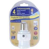 Soquete infra sensor fotocelula dia e noite e presença regulável p/ lâmpada e27 - Qualitronix