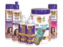 Sos Cachos Super Oleos Nutritivo Salon Line kit com 06 Itens -