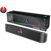 Soundbar Para Tv e Pc Soundbar 24007 Gxt-619 Thorne Rgb Led Stereo Para Pc 12w - Trust