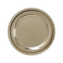 Sousplat 33cm dourado - Coliseu