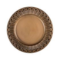 Sousplat Copa  Cia Imperial Turim 36cm ouro antique -