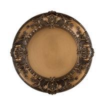 Sousplat Copa  Cia Imperial Veneza 36cm ouro antique -