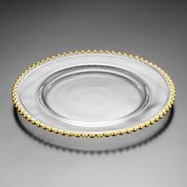 Sousplat de cristal pearl gold 31,5cm - wolff -