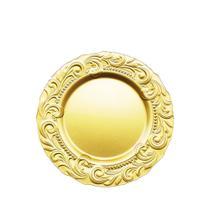 Sousplat de Vidro Renaissance Dourado 33 x 2,5cm - Vylux