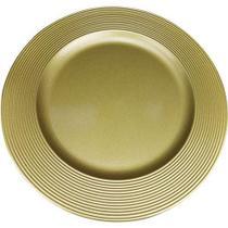 Sousplat Disco SP13716 Dourado - Mimo Style - Não Definido