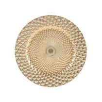 Sousplat em plástico Royal Decor 33cm dourado 61021 -