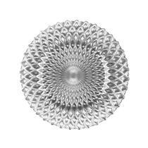 Sousplat em vidro Ricaelle 32,5cm prata -