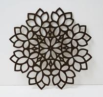 Sousplat Floral Kit 4 pessoas - Preto liso - Ateliê Da Decoração