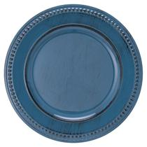 Sousplat Galles Dots Bluestone Antique 33 cm Copa -