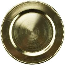 SOUSPLAT PLASTICO DOURADO 25cm - Rojemac