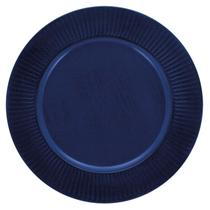 Sousplat Redondo Azul Marinho 33 cm Mimo Style -