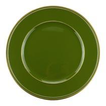 Sousplat Verde com Dourado 11640 - Rojemac -