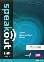 Speakout starter sb with dvd-rom and myenglishlab access code pack - 2nd ed - Pearson (importado)