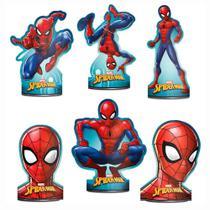 Spider Animação Decoração de Mesa C/6 - Regina -