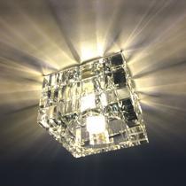 Spot Cristal K9 Embutir quadrado 7cm quarto banheiro AC974 - Acende A Luz