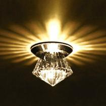 Spot Cristal Led 1w Mini Diamante Embutir Bivolt ac971 - Acende a luz