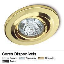 Spot de embutir direcionável dourado 127v - startec -