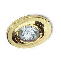 Spot de embutir fixo 50w x 127v dourado - Startec