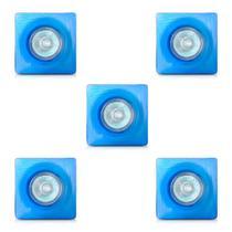 Spot dicroica vidro quadrado (com lampada) 05 unidades - Home Line