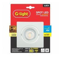 Spot led branco - quadrado PBT - direcionável - G-light
