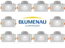 Spot led croica 6w embutir quadrado direcionável bivolt 6500k blumenau kit 10 unidades - BLUMENAU ILUMINAÇÃO