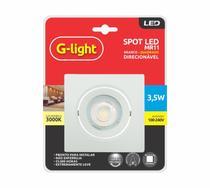 Spot led mr11 quadrado 3000k - G-light