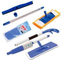 Spray Mop C/ Refil, Mop Tira Pó C/ Rodo Borracha Dupla 45 cm - Vendasshop Utensilios De Limpeza
