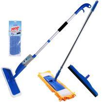 Spray Mop Com Refil + Mop Tira Pó Com Rodo Borracha Dupla - Vendasshop utensilios de limpeza