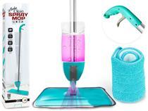 Spray Mop Esfregão Com Reservatório De Água + 1 Refil Microfibra Rodo Magico - 123 Útil