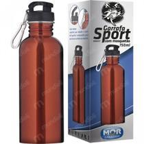 Squeeze Garrafa Sport Mor 750ml com Mosquetao Cor Alaranjado -